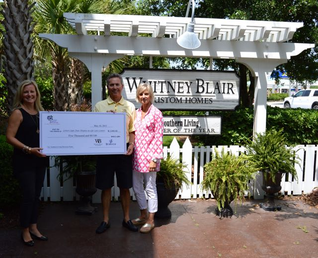 Whitney Blair Custom Homes Southern Living Showcase Home Donation to Lower Cape Fear Hospice & Life Care Center