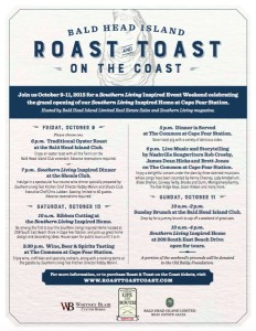 Roast & Toast Event Flyer